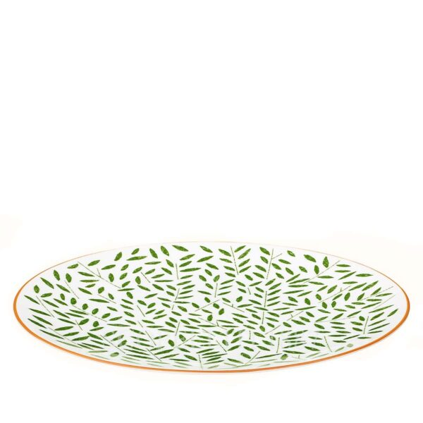 hermes a walk in the garden dinner plate green 27 cm 02