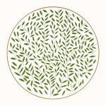 hermes a walk in the garden dinner plate green 27 cm