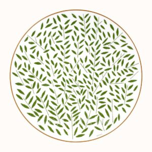 hermes a walk in the garden dinner plate green 27 cm