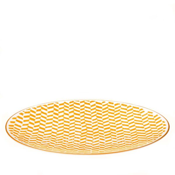 hermes a walk in the garden dinner plate yellow 27 cm 02