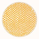 hermes a walk in the garden dinner plate yellow 27 cm