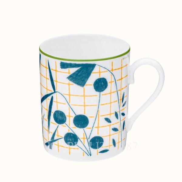 hermes a walk in the garden mug blue 30 cl