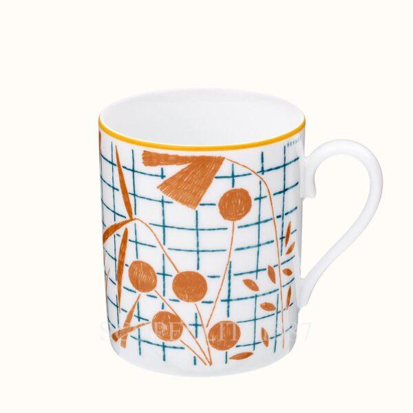 hermes a walk in the garden mug orange 30 cl