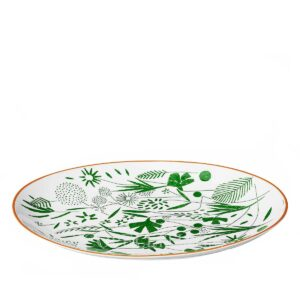 hermes a walk in the garden oval platter 36 cm