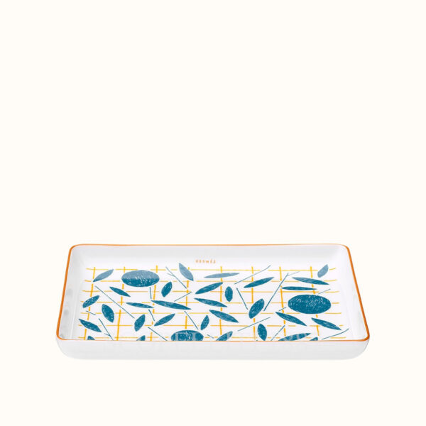hermes a walk in the garden small tray 16×12 cm 02