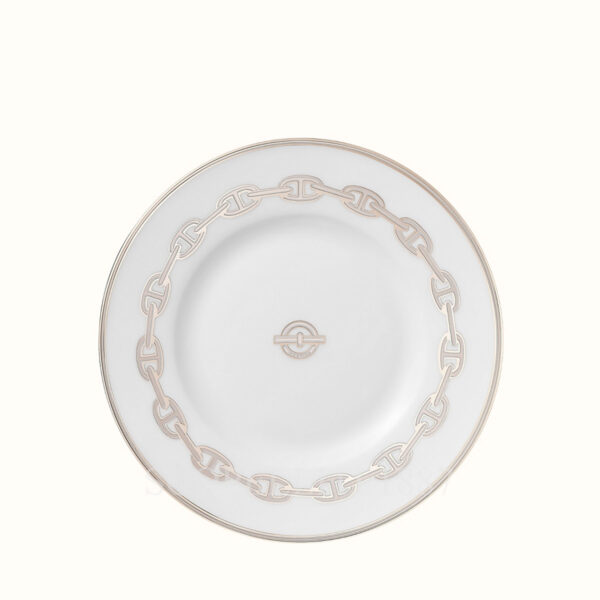 hermes chaine d ancre platine bread and butter plate 16 5 cm