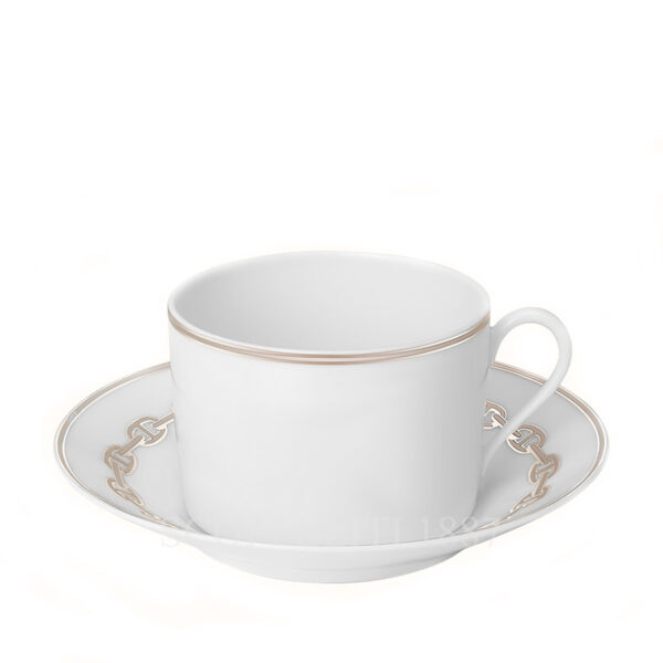 hermes chaine d ancre platine breakfast cup and saucer