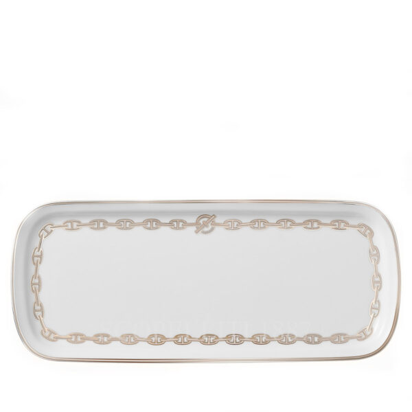 hermes chaine d ancre platine cake platter 36 x 15 cm