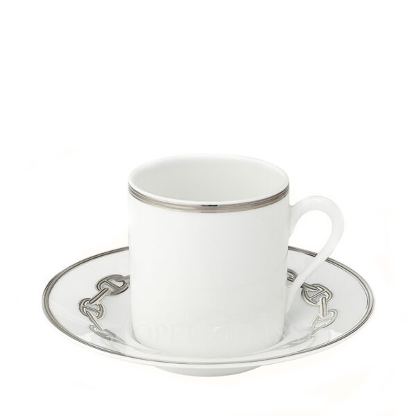 hermes chaine d ancre platine coffee cup and saucer