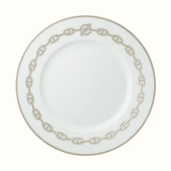 hermes chaine d ancre platine dessert plate 22 5 cm