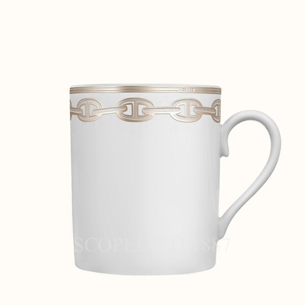hermes chaine d ancre platine mug 30 cl