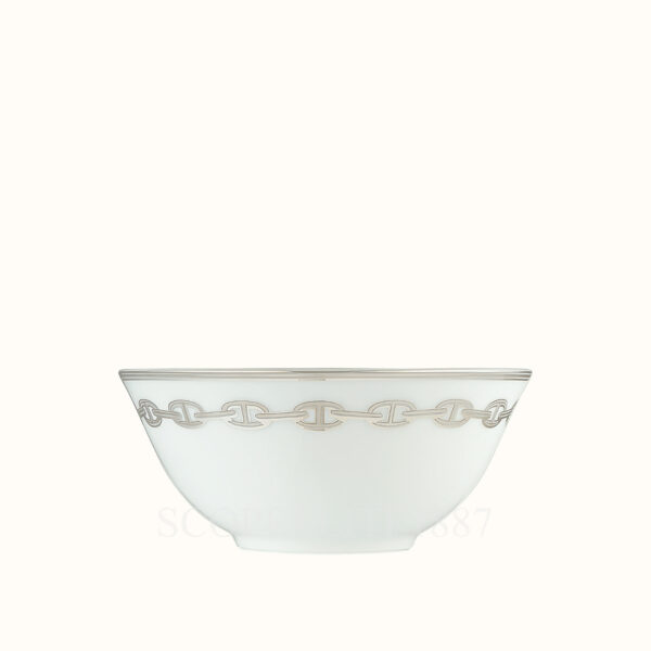 hermes chaine d ancre platine rice bowl 12 5 cm