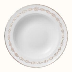hermes chaine d ancre platine round deep platter 29 5 cm