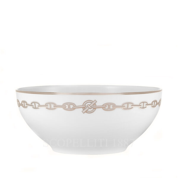 hermes chaine d ancre platine salad bowl