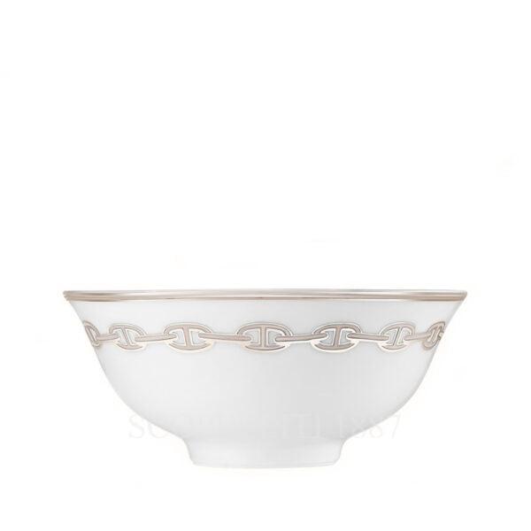 hermes chaine d ancre platine soup bowl 11 cm