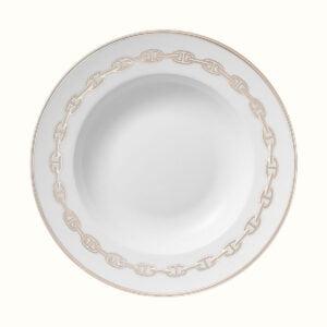 hermes chaine d ancre platine soup plate 22 cm