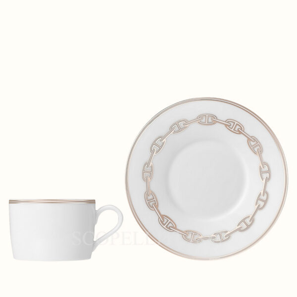 hermes chaine d ancre platine tea cup and saucer 02