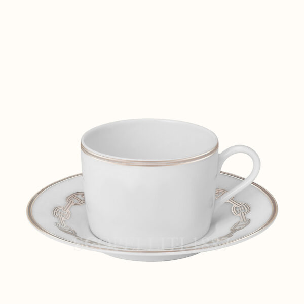 hermes chaine d ancre platine tea cup and saucer
