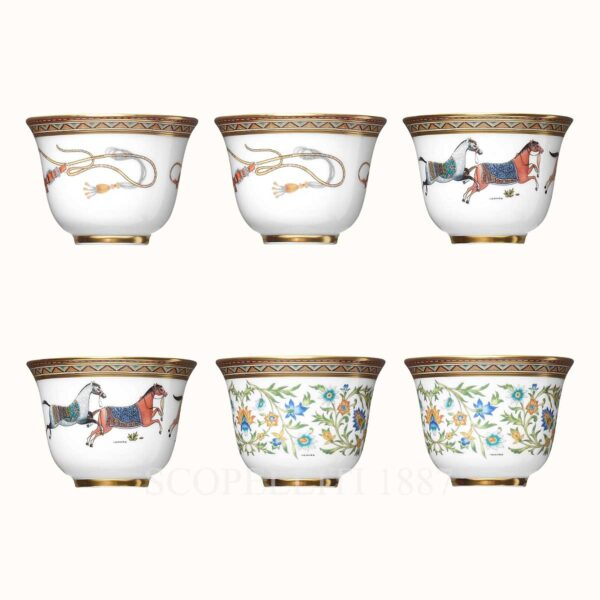 hermes cheval d orient gift set of 6 small cups n1 to n3