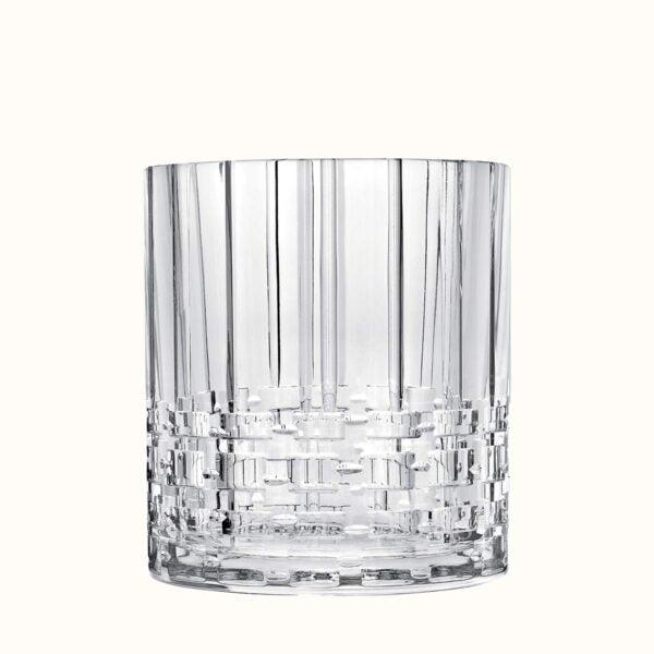hermes cristal adage low vase–height 18 cm