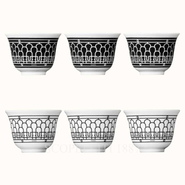 hermes h deco gift set of 6 small cups