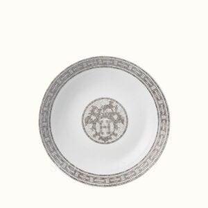 hermes mosaique au 24 platine cereal plate 17 cm