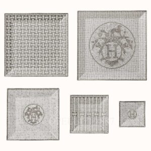 hermes mosaique au 24 platine gift set of 5 square plates (n1 to n5)