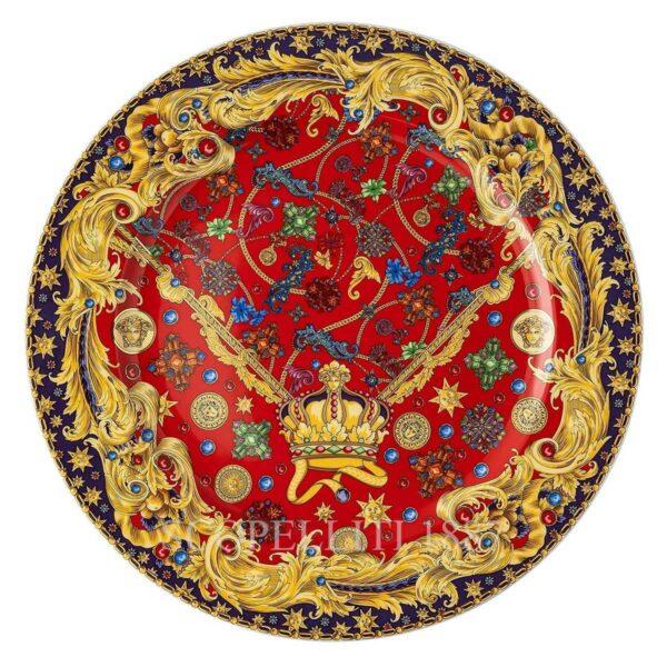 versace christmas barocco holiday christmas plate 30 cm