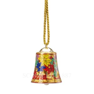 versace christmas holiday alphabet porcelain bell 5 6 cm height 7 cm