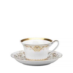 versace tea cup and saucer medusa gala gold
