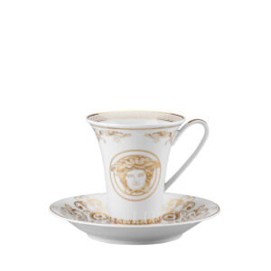 versace cup and saucer 4 tall medusa gala