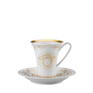 versace coffee cup and saucer medusa gala gold