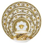 versace i love baroque white 5 piece place setting