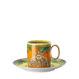 versace jungle animalier coffee cup and saucer