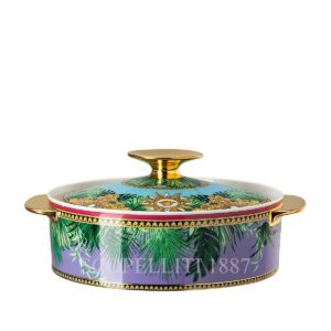 versace jungle animalier covered vegetable bowl