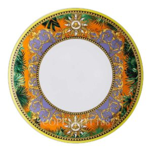 versace jungle animalier plate 28 cm