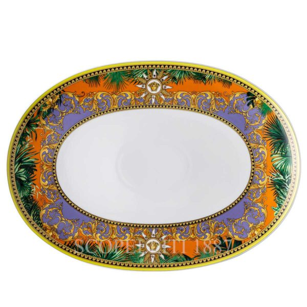 versace jungle animalier platter 38 cm