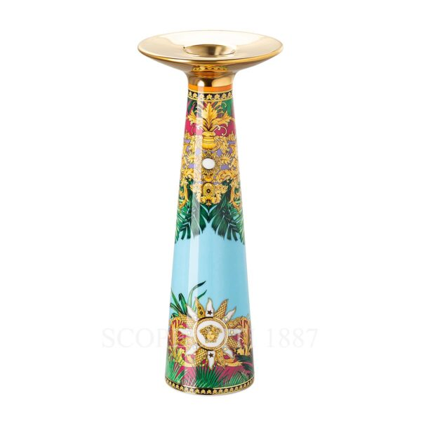 versace jungle animalier vase candleholder 25 cm