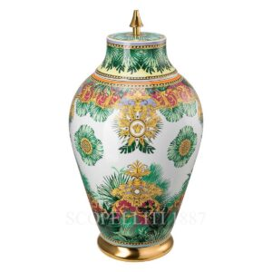 versace jungle animalier vase with lid 76 cm