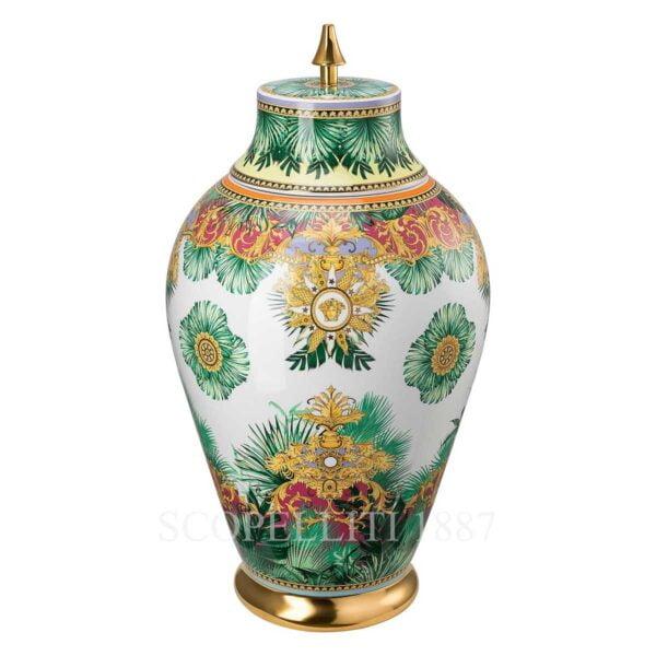 versace jungle animalier vase with lid 76 cm