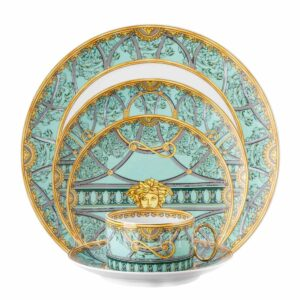 versace la scala del palazzo green 5 piece place setting