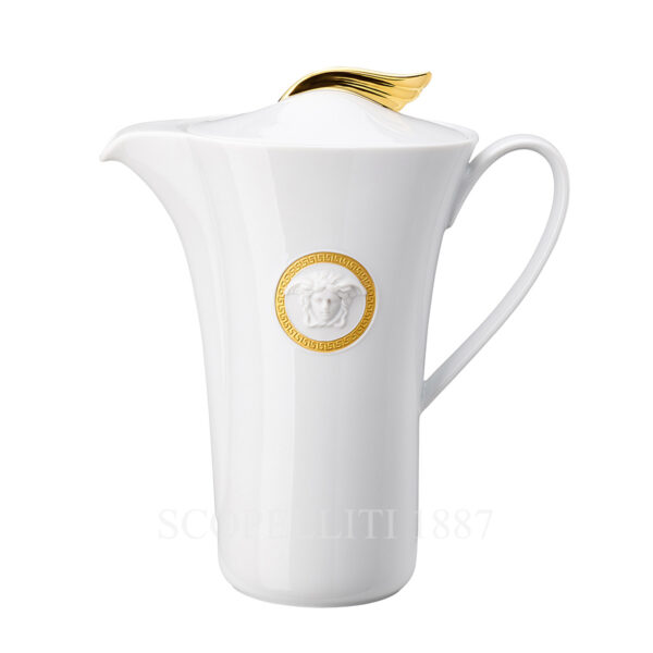 versace medaillon meandre d or coffee pot