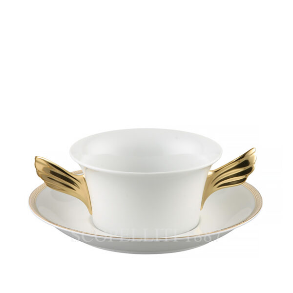 versace medaillon meandre d or creamsoup cup and saucer