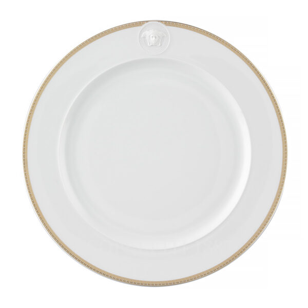 versace medaillon meandre d or service plate 30 cm with relief