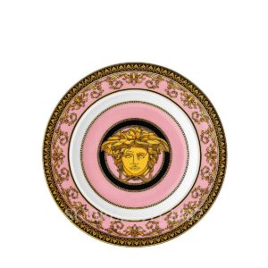 versace medusa colours rose plate 18 cm