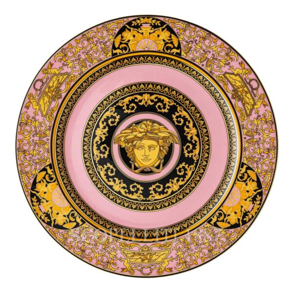 versace medusa colours rose service plate 30 cm