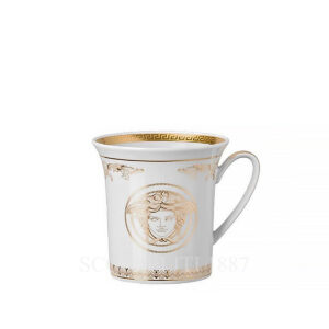 versace mug with handle medusa gala gold