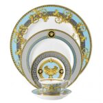 versace prestige gala le bleu 5 piece place setting