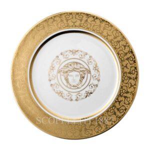 versace service plate 30 cm medusa gala gold