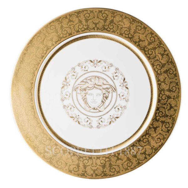 versace service plate 33 cm medusa gala gold